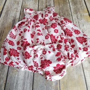 Maggie & Zoe Red and White bubble dress Sz. 12mth